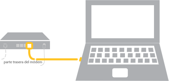 Conecta tu computadora directamente con tu módem